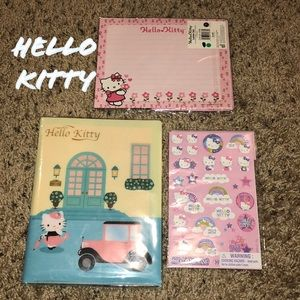 Hello Kitty NIP stationary, letter set & stickers
